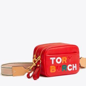 Tory Burch PERRY COLOR-BLOCK DOUBLE-ZIP MINI BAG